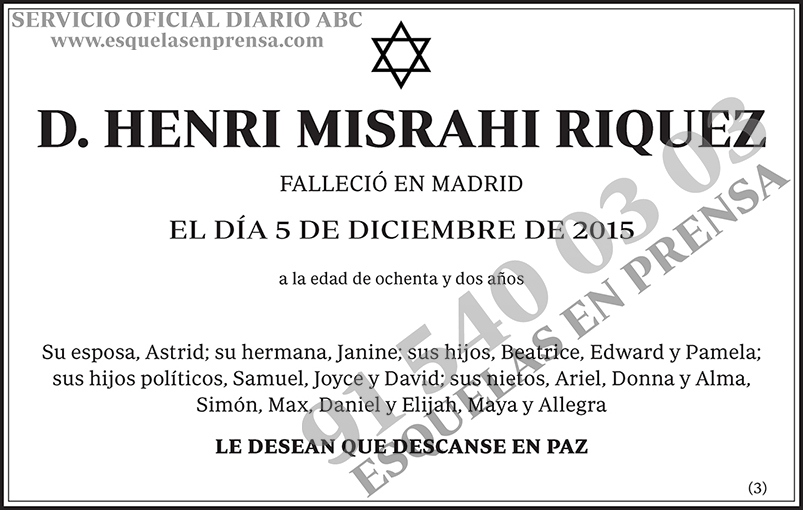 Henri Misrahi Riquez